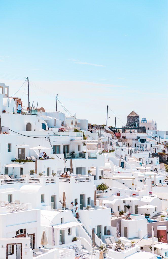 サントリーニ島、白い家