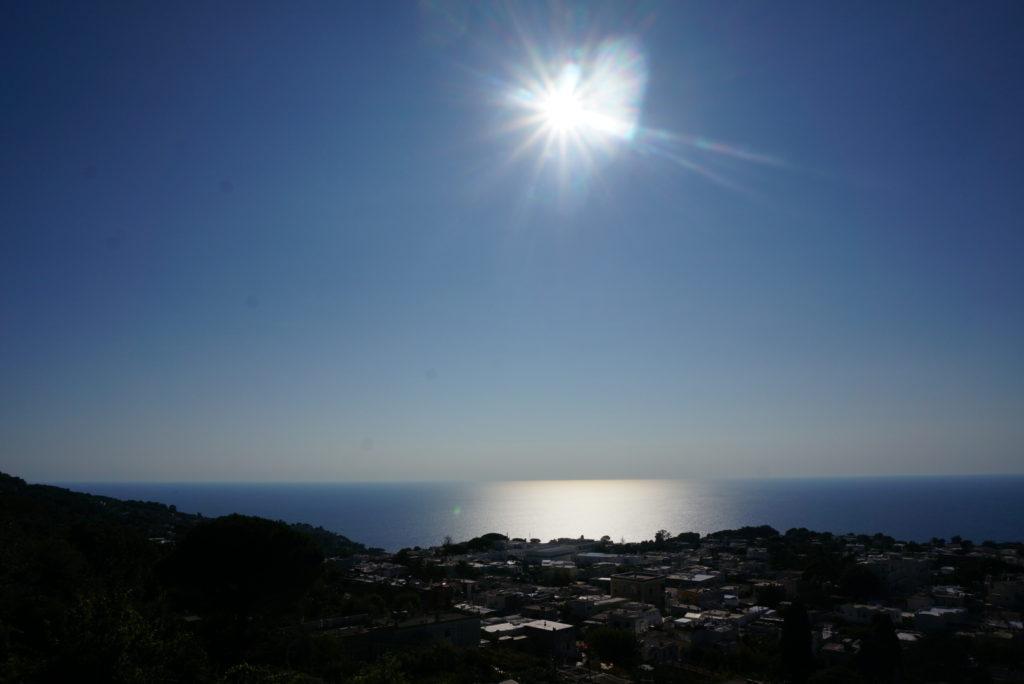 モンテ・ソラーロ、リフトからの眺め、快晴