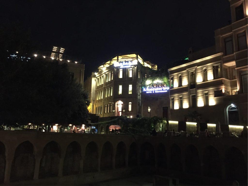 バクー夜の旧市街