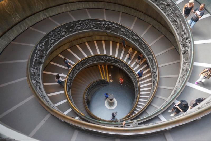 バチカン美術館、階段