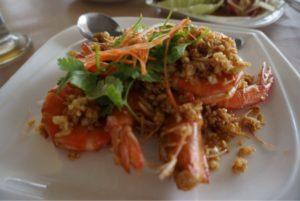 クン クング レストランの蝦の料理