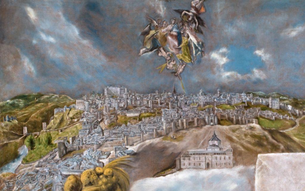 トレドの景観と地図